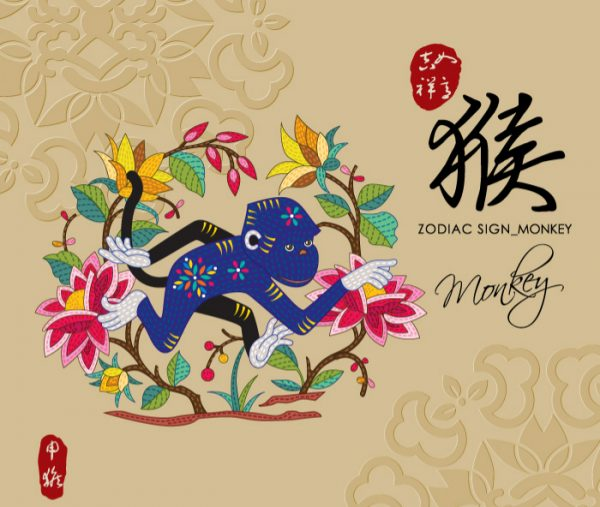 12 Chinese zodiac signs - Monkey