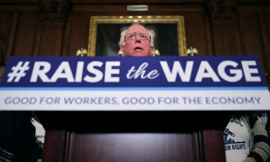 WASHINGTON, DC - JANUARY 16: Sen. Bernie Sanders (I-VT) speaks during an event to introduce the Raise The Wage Act in the Rayburn Room at the U.S. Capitol January 16, 2019 in Washington, DC. Chip Somodevilla/Getty Images