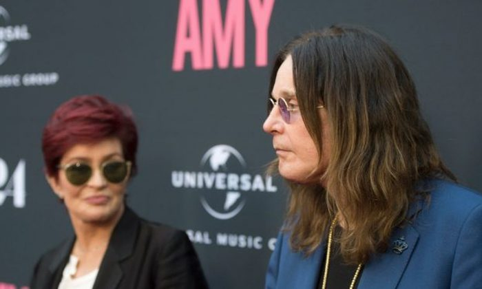 Television personality Sharon Osbourne (L) and musician Ozzy Osbourne arrive at the premiere of A24 Films 'Amy' at ArcLight Cinemas on June 25, 2015, in Hollywood, Calif. (Michael Buckner/Getty Images)