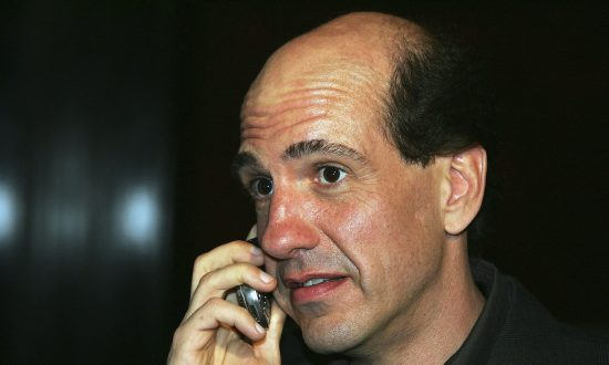 """Actor Sam Lloyd arrives at a third season DVD launch event and season five wrap party for the television series """"Scrubs"""" at the Rain Nightclub inside the Palms Casino Resort in Las Vegas, Nev., on April 27, 2006. (Ethan Miller/Getty Images)"""