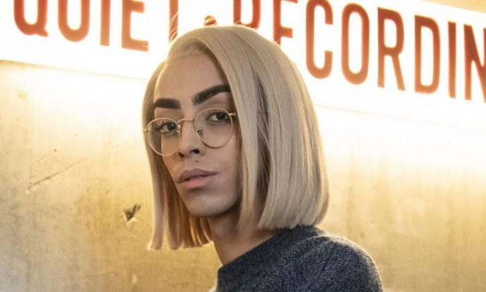 French Singer Bilal Hassani in Paris, on Jan. 26. (Thomas Samson/Getty Images)