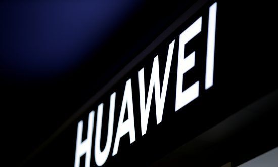 A Huawei sign is pictured at a shop in Beijing on Jan. 29, 2019. (Jason Lee/Reuters)