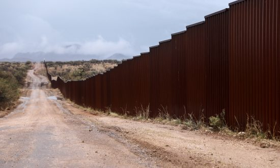The border wall between the U.S. and Mexico just east of Sasabe, Arizona, on Dec. 7, 2018. Lawmakers said on Feb. 8, 2019, that they are close to a compromise that would include funding for the border wall. (Charlotte Cuthbertson/The Epoch Times)