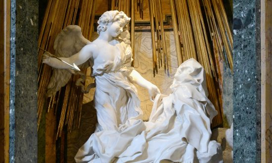 """Ecstasy of Saint Teresa,"" 1647–1652, Gian Lorenzo Bernini. Cornaro Chapel, Santa Maria della Vittoria, Rome. (Public Domain)"
