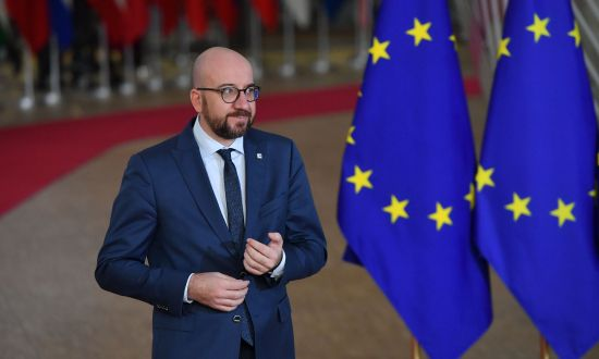 "The European Union's foreign ministry recently warned E.U. diplomats and military officers about the threat of ""about 250 Chinese and 200 Russian spies"" operating in Brussels, the E.U. capital. In the photo, Belgium's Prime Minister Charles Michel attends European Summit on December 14, 2018. (EMMANUEL DUNAND/AFP/Getty Images)"