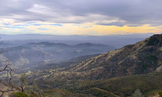 The view from the North Ridge Trail on Mount Diablo looks southwest, in Mount Diablo State Park, California, in this Dec. 18, 2018, file photo. Authorities say a body was found in the wreckage of a plane they believed crashed Friday night, Feb. 8, 2019. (Tom Stienstra/San Francisco Chronicle via AP)
