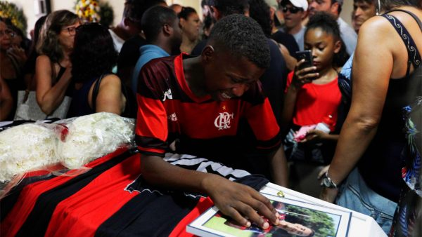 fire at Flamengo soccer club