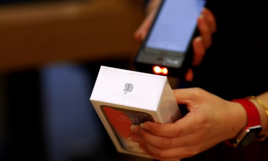 A new iPhone X is sold at an Apple Store in Beijing on Nov. 3, 2017. (Damir Sagolj/Reuters)