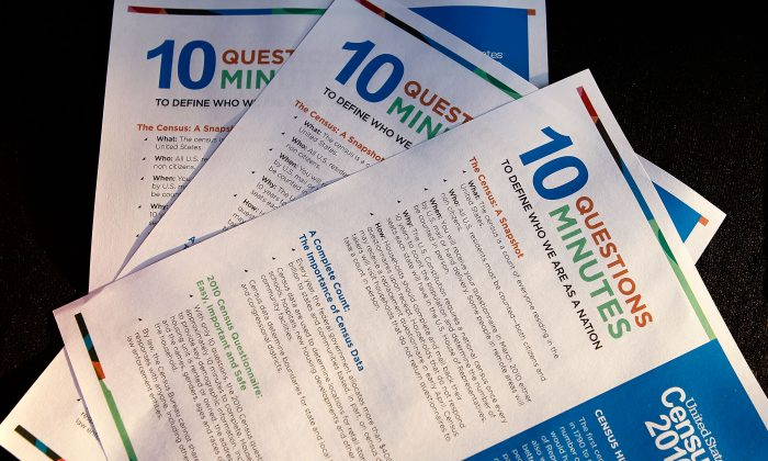 Forms for Census 2010 are displayed in Washington on April 1, 2010. The census is conducted every 10 years. (Alex Wong/Getty Images)