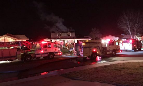 A fire at a house in Bakersfield, California left one dead on Feb. 7, 2019. (Kern County Fire Department)
