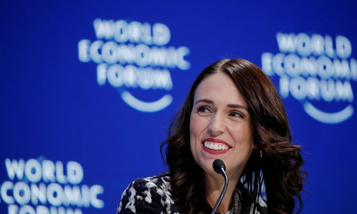 New Zealand's Prime Minister Jacinda Ardern smiles as she attends the World Economic Forum (WEF) annual meeting in Davos, Switzerland on Jan. 22, 2019. (Arnd Wiegmann/Reuters)