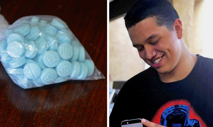 Francisco Chavez, 19, died after he swallowed sky blue fentanyl pills designed to look like oxycodone, and three others were seriously sickened at a Halloween party in 2018. (Drug Enforcement Administration/Seanna Leilani via AP)