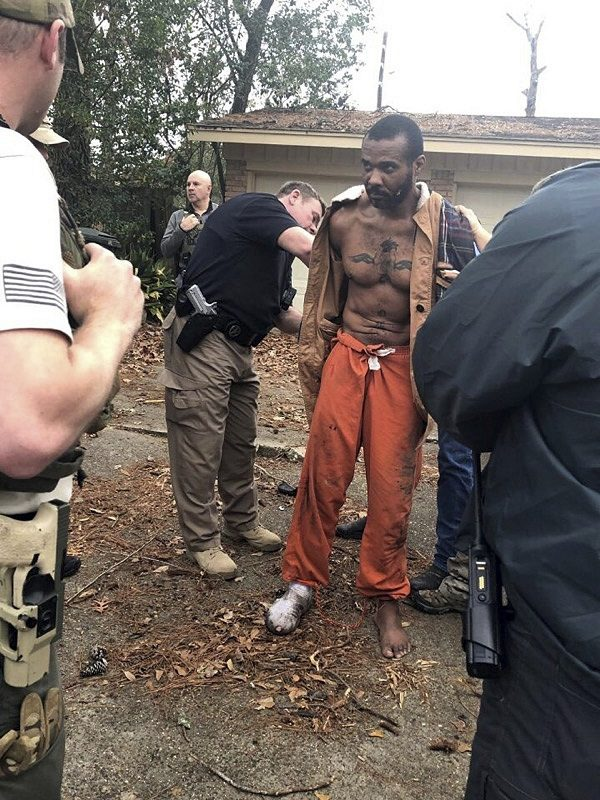 Cedric Marks being captured after a nine-hour manhunt