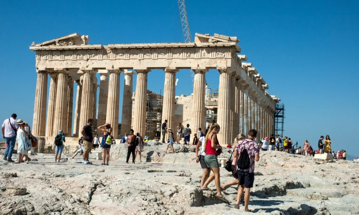 Parthenon on the ancient site of the Acropolis. (Carole Jobin)