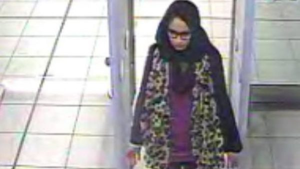 Shamima Begum in a surveillance photo