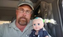 Doting Father Goes to Great Lengths to 'Babysit' Daughter's Favorite Doll