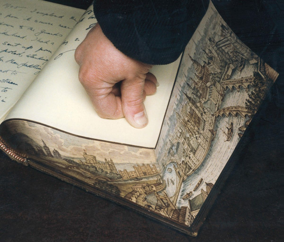 Book with painting on the edge
