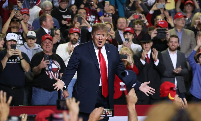 U.S. President Donald Trump attends a rally at the  El Paso County Coliseum on Feb. 11, 2019 in El Paso, Tex. (Joe Raedle/Getty Images)