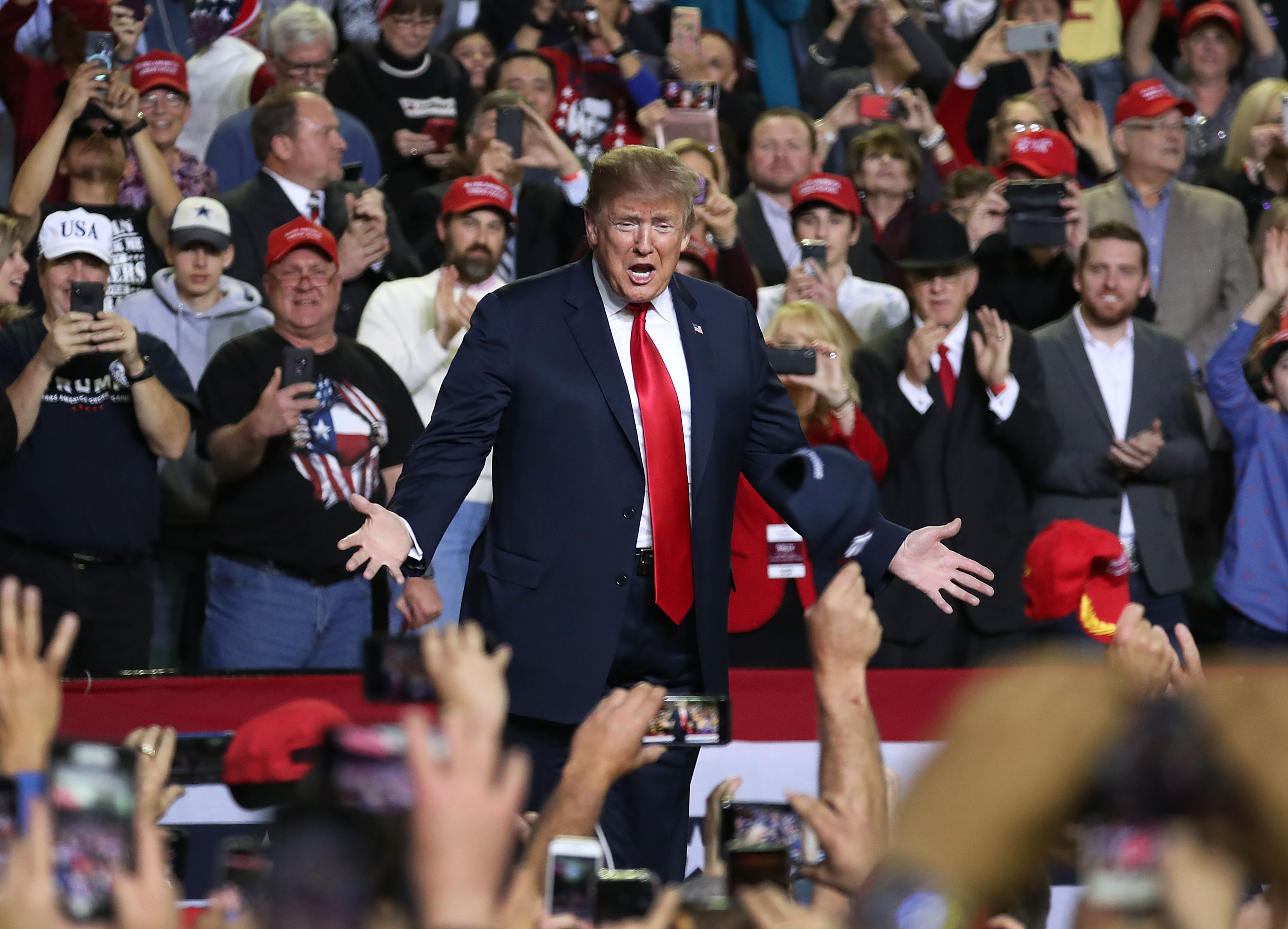 U.S. President Donald Trump attends a rally at the El Paso County