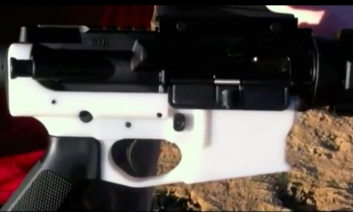 An AR-15 created from a 3-D printer. (Courtesy of Defense Distributed via Reuters)