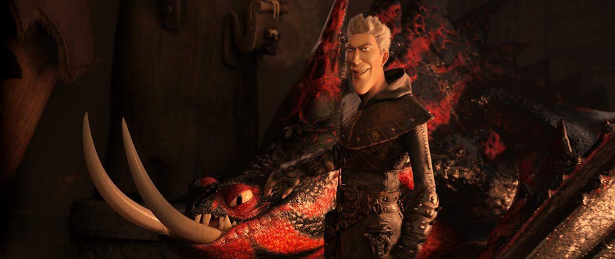 Dragon hunter and his nasty dragon steed