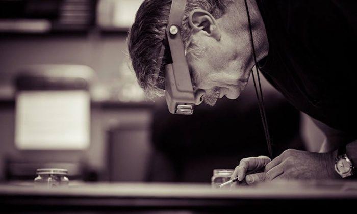 Jim Stevens working in his studio. (Courtesy of Jim Stevens)