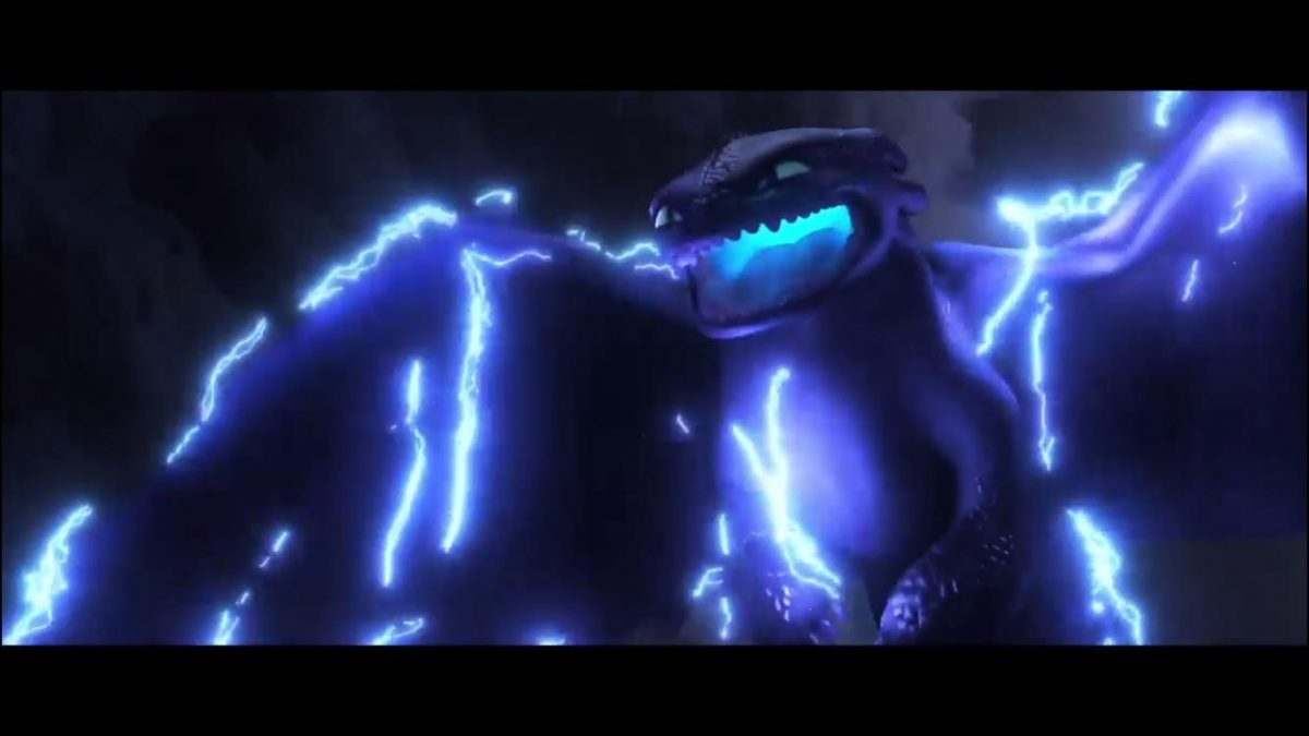 dragon spews lightning