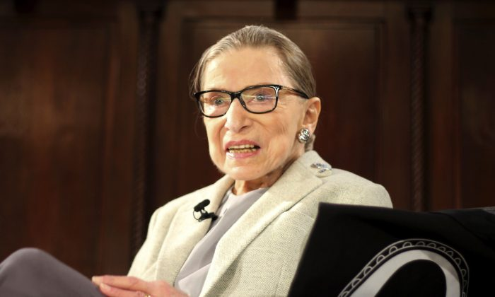 Supreme Court Justice Ruth Bader Ginsburg appears at an event organized by the Museum of the City of New York with WNET-TV held at the New York Academy of Medicine in New York, on Dec. 15, 2018. (AP Photo/Rebecca Gibian, File)