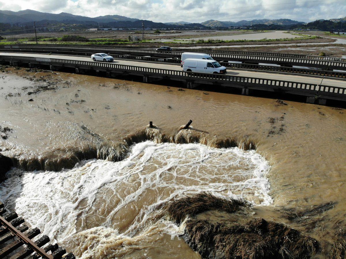 mudslides and heavy rain california