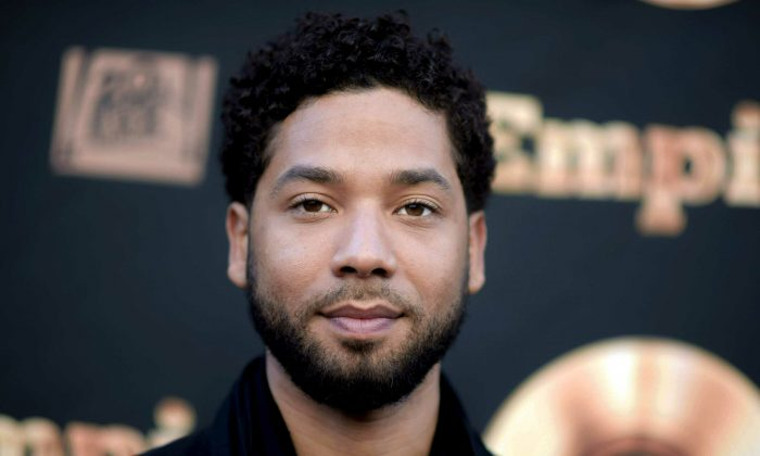 """Actor and singer Jussie Smollett attends the """"Empire"""" FYC Event in L.A. Chicago police said they're interviewing two """"persons of interest"""" who surveillance photos show were in the downtown area where Smollett said he was attacked in January 2019. (Richard Shotwell/Invision/AP)"""