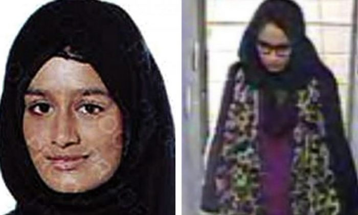 Shamima Begum, a British teenager who ran away from Britain to join ISIS terrorists in Syria four years ago and then got pregnant. She said on Feb. 14, 2018, she wants to come back to London with her child. (Metropolitan Police via AP)