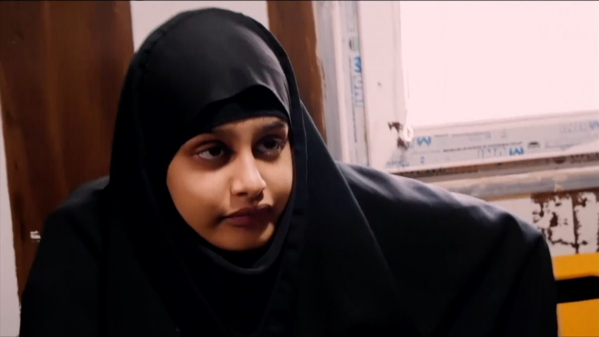 Shamima Begum interviewed by Sky News
