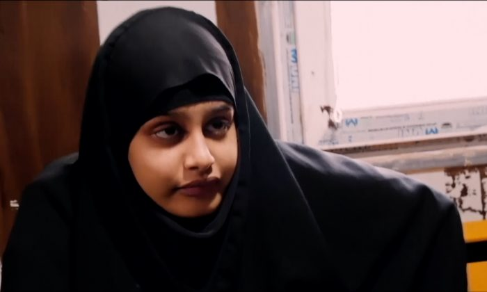 Shamima Begum being interviewed by Sky News in northern Syria, on Feb. 17, 2019. (Reuters)