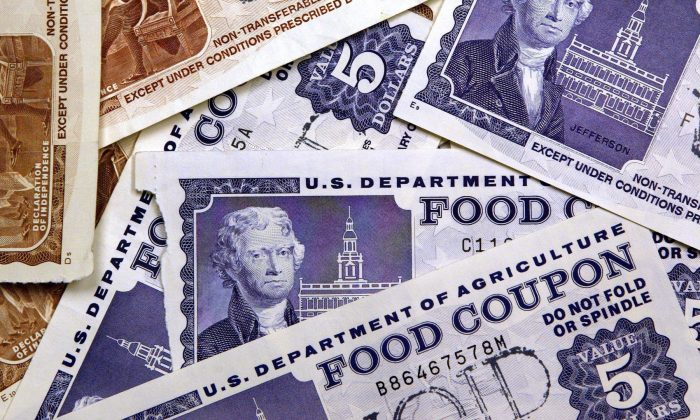 Older Food coupons. (Tim Boyle/Getty Images)