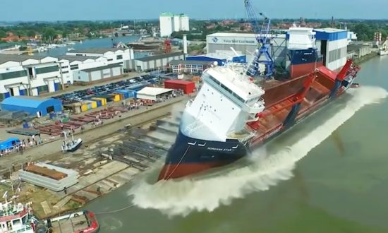 How Ships Are Launched Into the Water