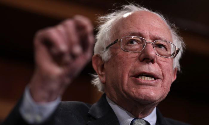 Sen. Bernie Sanders at the U.S. Capitol on Jan. 30, 2019. (Win McNamee/Getty Images)
