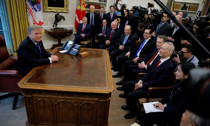 US Meeting With Chinese Delegation Extended as Trump Describes Progress on Trade Talks