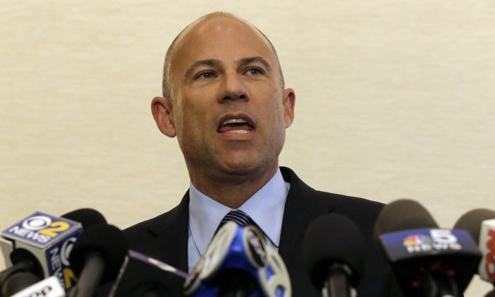 Attorney Michael Avenatti speaks at a news conference on Chicago on Feb. 22, 2019. (Kiichiro Sato/AP)