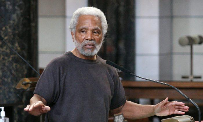 "Senator Ernie Chambers called the American flag ""a rag"" and likened it to the swastika on the floor of the legislature. (Nebraska Legislature)"