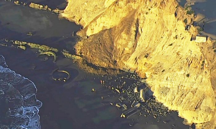 San Francisco Authorities Search for Woman in Landslide