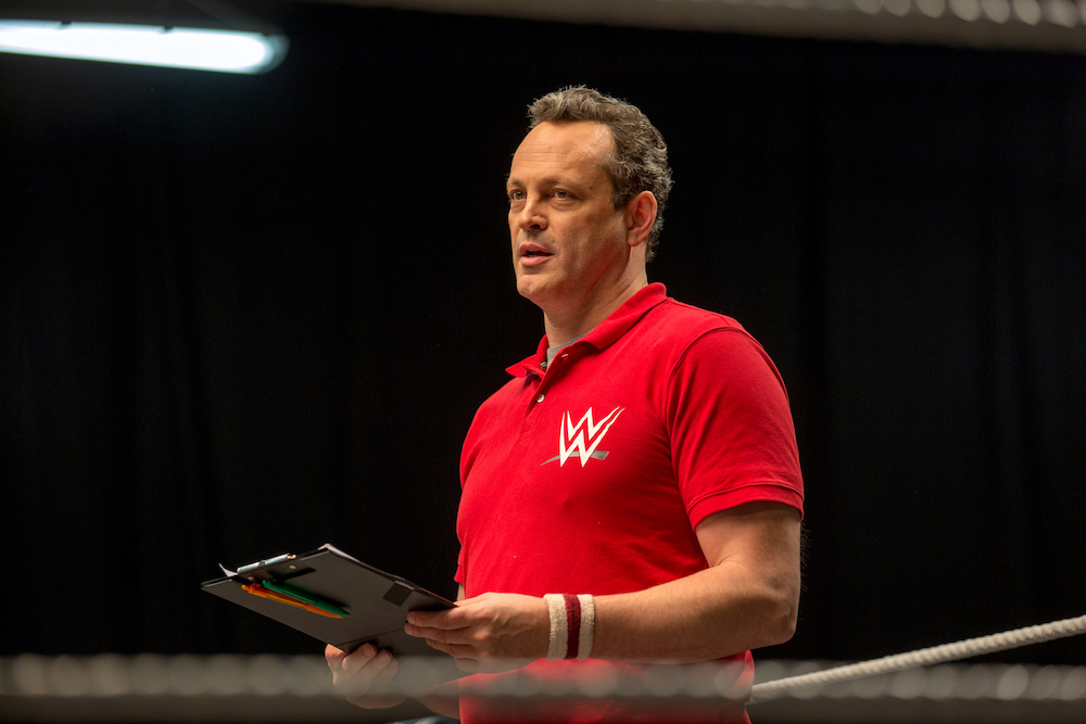 Vince Vaughn plays a wrestling coach