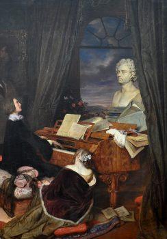 Franz Liszt at piano