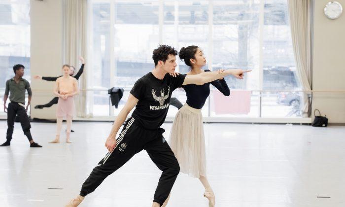"Ballet dancers Christopher Gerty and Miyoko Koyasu in rehearsal for ""Alice's Adventures in Wonderland."" (Karolina Kuras)"