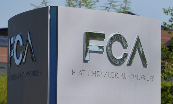 Fiat Chrysler Automobiles (FCA) sign