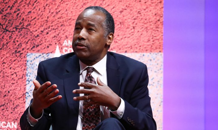 Secretary of Housing and Urban Development Ben Carson at the CPAC convention in Washington on Feb. 28, 2019. (Samira Bouaou/The Epoch Times)