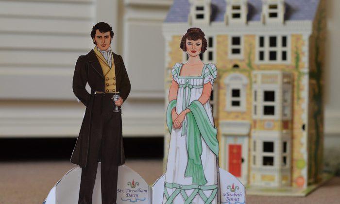 "Paper dolls from Jane Austin's novel ""Pride and Prejudice."" (Susannah Pearce)"
