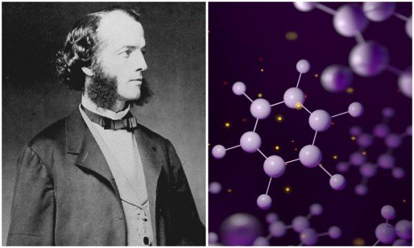 Friedrich August Kekulé and molecular structure of benzene