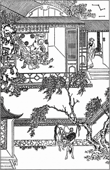 illustration from a 15th century woodcut for Water Margin