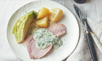 Traditional Irish Bacon With CabbageandParsley Sauce