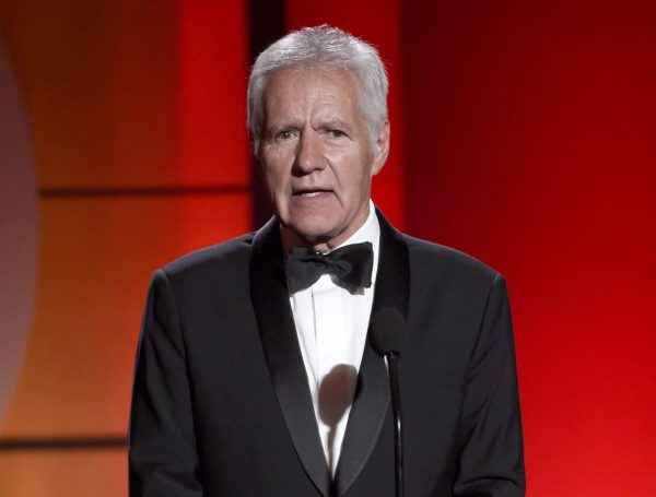 In this April 30, 2017, file photo, Alex Trebek speaks at the 44th annual Daytime Emmy Awards at the Pasadena Civic Center in Pasadena, Calif. Trebek has been diagnosed with stage 4 pancreatic cancer. (The Canadian Press/AP/Chris Pizzello/Invision)
